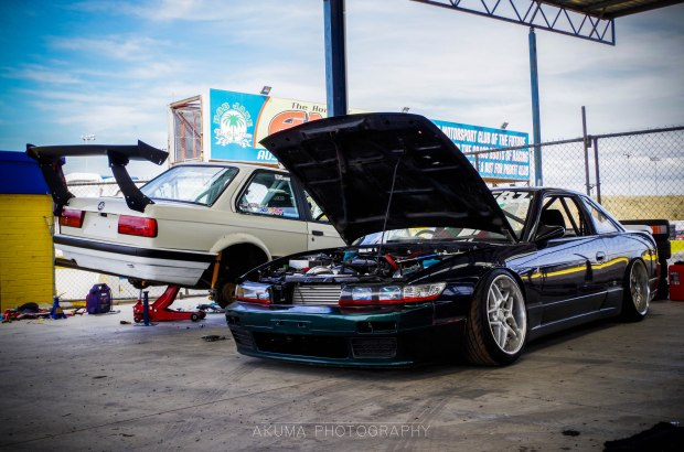 2 clean drift cars getting ready to slay some tires!