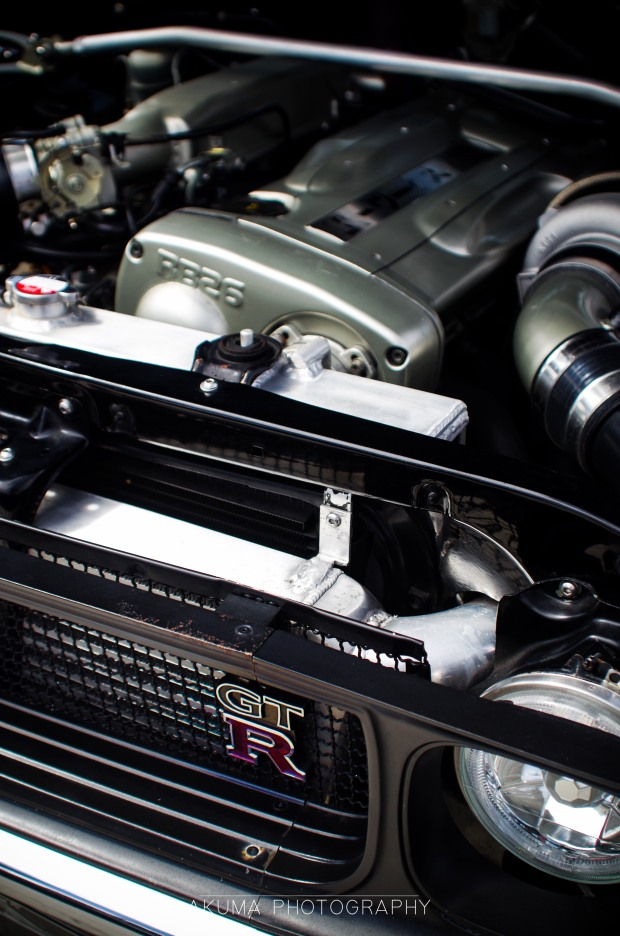 Here is is..an RB26 powered KPGC110 Skyline
