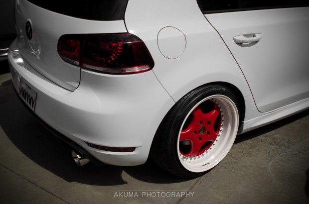 Porsche rims on this golf..Ouuft!!