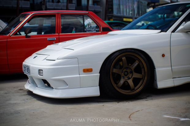Perfect combo on this Type-X 180sx