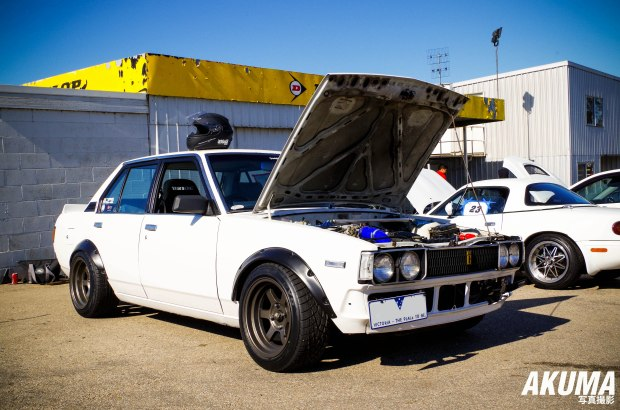 The KE70 waiting to attack on the track at Winton Raceway.