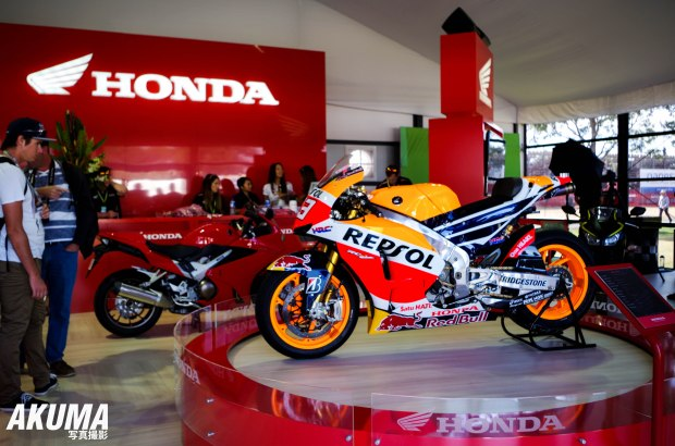 The Australian Grand Prix show casing new bikes for 2015.