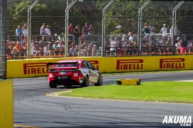 V8 Supercars out on track.